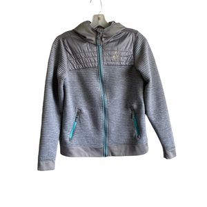Gerry Youth Kids Gray Full Zip Sweater Large